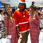 Flying on Christmas day in Thailand= Onesies!